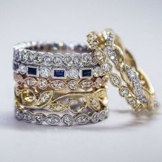 """""""We love stackables! What jewelry trends are you digging?  #thenaturalway #camillerosenaturals #crnlifestyle #prettywoman PC: @gabrielandco"""""""