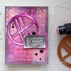 Be confident, brave & amazing with this mixed media card! Learn how in today's video tutorial.