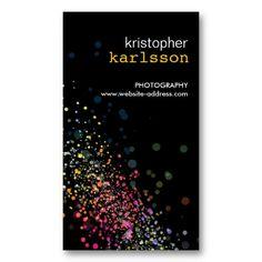 Colorful Design on Black - A unique business card for photographers