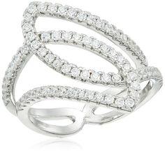 9f90559e1 Jewel Panda Rhodium Plated Sterling Silver White Cubic Zirconia Ring