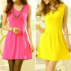 Solid color dresses, there are 12 colors!