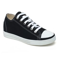 Stylish Simple Girl Canvas Height Increasing Shoes For Women 6e6a904a800b