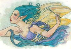 """The Lilac Fairy"" from Sleeping Beauty from Ballet Stories. Original artwork by Rebecca Guay available at the R. Michelson Galleries or at rmichelson.com"