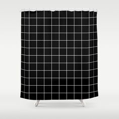 Buy Grid Simple Line Black Minimalistic Shower Curtain by beautifulhomes. Worldwide shipping available at Society6.com. Just one of millions of high quality products available.