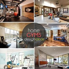 Lots of design ideas for your home gym! TheWeighWeWere.com