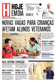 Capa do dia 10/10/2017 #HojeEmDia #Jornal #Noticias #News #Newspaper
