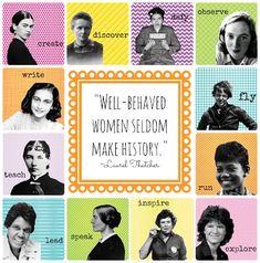 69 New Ideas Famous Women In History Quotes Girls History Posters, History Quotes, History For Kids, Women In History, National Women's History Month, History Bulletin Boards, Poster Minimalista, Womens Month, Elementary Library