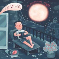 Summer Night: music and reading under the stars / Noche de verano: música y lectura bajo las estrellas (ilustración de Silvia Sponza)