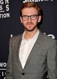 Dan Stevens and his tragic hipster glasses arrive at the TIFF HFPA / InStyle Party during the 2013 Toronto International Film Festival at Windsor Arms Hotel on September 9, 2013 in Toronto, Canada.