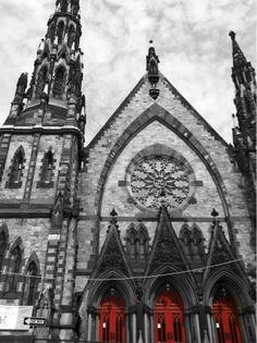 Gothic cathedral in Mt Vernon square Baltimore