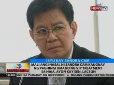 BT: Mali ang inasal ni Sandra Cam sa paghingi umano ng VIP treatment sa NAIA, ayon kay Sen. Lacson - WATCH VIDEO HERE -> http://philippinesonline.info/aldub/bt-mali-ang-inasal-ni-sandra-cam-sa-paghingi-umano-ng-vip-treatment-sa-naia-ayon-kay-sen-lacson/   Balitanghali is the daily noontime newscast of GMA News TV anchored by Raffy Tima and Pia Arcangel. It airs Mondays to Fridays at 11:30 AM (PHL Time). For more videos from Balitanghali, visit  Subscribe to the GMA News and