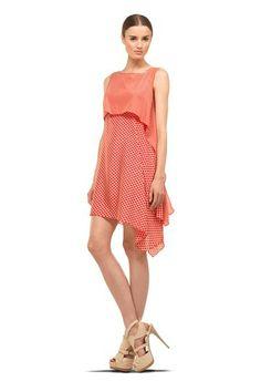 Blocked Printed Silk Dress by MAXSTUDIO.COM on @HauteLook