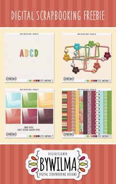 Little Somethings 5 - a digital scrapbooking freebie that all about papers ... limited time download links.