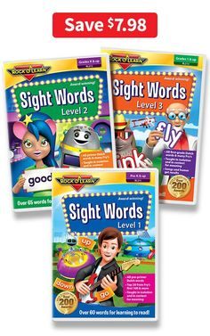 Sight Words DVD Collection covers over 170 words. Pre-primer Dolch words, primer Dolch words, 1st Grade Dolch words, and words from Fry's list. 25% OFF with COUPON CODE PINIT at checkout . Rock N Learn Sight Words Video / Preschool Sight Words / Kindergarten Sight Words / First Grade Sight Words / Homeschool Material / Homeschooling Material / Home School