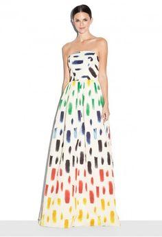 Brushstroke Print Bella Slim Gown