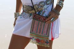 Coconut Village festival Crossbody with beaded fringe... perfect for Coachella