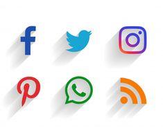 Clean set of social media logos Free Vector Instagram Logo, Instagram Frame, Facebook Instagram, Poster Background Design, Powerpoint Background Design, Social Media Icons, Social Media Content, Social Networks, 3d Cuts