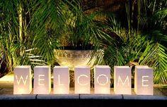 Paper Bag Lanterns – Welcome
