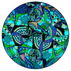 Glimmer Glass Mosaics - Glimmer Glass Circles™