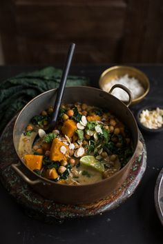 Chickpea And Coconut Korma Curry With Pumpkin - I would substitute butternut for the pumpkin based on availability