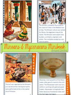 Free Minoan and Mycenaean Minibook for a homeschool ancient civilization unit study