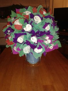 Such a lovely Diaper bouquet, made for my sister, hopefully se will love just as much! Diaper Bouquet, Table Decorations, Home Decor, Decoration Home, Room Decor, Home Interior Design, Dinner Table Decorations, Home Decoration, Interior Design