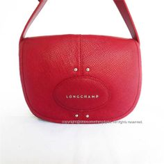 Longchamp Quadri Red Crossbody 1075786 Carmine Leather Made in France New Bag