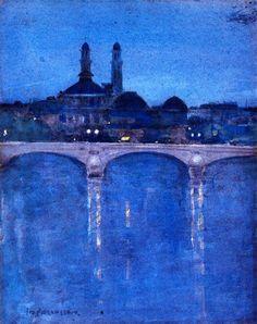 John Duncan Fergusson  The Trocadéro, Paris (c. 1902)