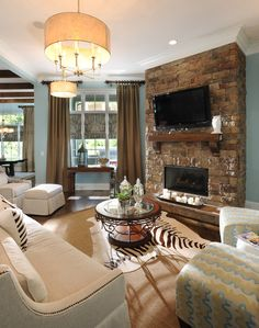 Living Room: Great Classic Fireplace For Living Room Wall Color ...