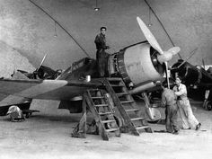 [Photo] Falco I fighter in maintenance at Pantelleria, Italy Air Force Aircraft, Ww2 Aircraft, Military Aircraft, Italian Empire, Italian Air Force, Aircraft Photos, Military Equipment, Royal Air Force, World War Ii