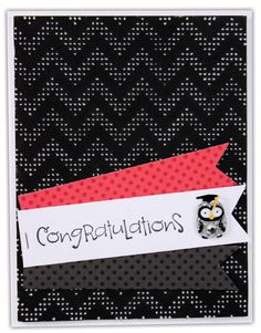 Owl Congratulations Card by @Crafts Direct Click through link for supply list and project instructions.