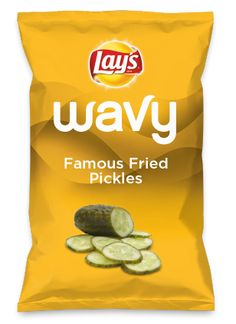"""Wouldn't Famous Fried Pickles be #yummy as a #chip? Lay's Do Us A #Flavor is back, and the search is on for the #yummiest flavor #idea.  https://www.dousaflavor.com See Rules. """"Famous #Fried #Pickles Lay's is on another level! Delicious crispy salty goodness of pickles with a Cajun flavor sass.. #CantTouchThisChip"""
