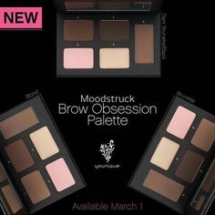 Another game changer!! Brow palettes in light, medium, and brown/black that also come with highlighters!! Perfect all in one for your brows!! ❤❤ Available March 1st!
