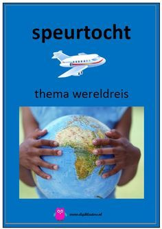 Digitaal boek: Speurtocht - thema wereldreis. Yoga For Kids, What To Make, Luau Party, School Projects, Boy Birthday, Back To School, Homeschool, Around The Worlds, Mardi Gras