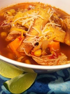 Chicken Tortilla Soup Goodness - The Fit Cook - Healthy Recipes - Skinny Recipes