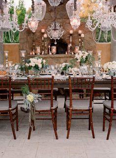 Flowers, Reception, White, Decor, Blue, Wedding, Vintage, Valley, Elizabeth, Ojai, Messina