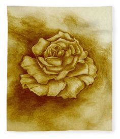 Golden Rose Fleece Blanket x by Faye Anastasopoulou. Our luxuriously soft throw blankets are available in two different sizes and feature incredible artwork on the top surface. The bottom surface is white. Fine Art Posters, Fusion Art, Blankets For Sale, Thing 1, Pattern Pictures, Monochrome, Rose Art, Artist At Work, Designs To Draw