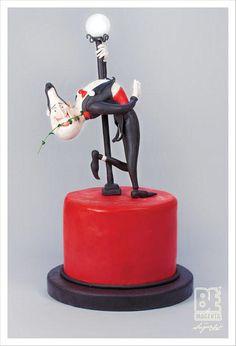 - by bemagenta @ - cake decorating website Fondant Toppers, Fondant Cakes, Cupcake Cakes, Tango, Fantasy Cake, Girly Cakes, Valentines Day Cakes, Funny Cake, Gateaux Cake