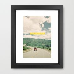 NEVER STOP EXPLORING - vintage volkswagen van Framed Art Print