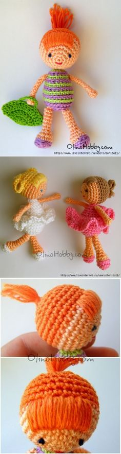 Knitted doll...