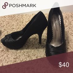 Black pumps Excellent condition! Worn once for a wedding. These shoes are gorgeous and sexy on, I just don't wear heels anymore! Shoes Heels