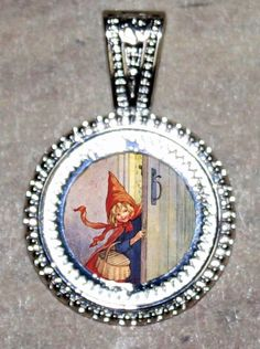 Little Red Riding Hood Pendant by CalliopesWork on Etsy, $11.00