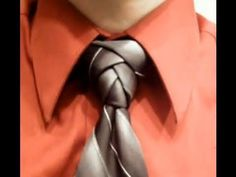 Another amazing necktie knot.  The Eldredge Knot: Revisited.