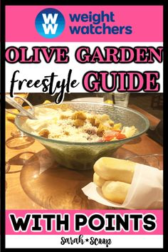 Olive Garden Weight Watchers Points Guide & Sarah Scoop Source by sarahscoop Weight Watchers Snacks, Weight Watchers Restaurant Points, Weight Watchers Tipps, Weight Watchers Points Guide, Weight Watchers Smoothies, Weight Watchers Program, Weight Watcher Dinners, Weight Watchers Breakfast, W Watchers