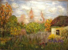 """Wool Painting """"In the warmth of September"""""""