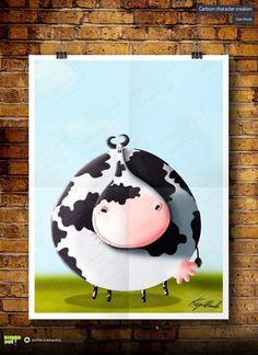 #illustrations #drawings #cartoon #illustrator #children #digital drawing #cartoonig #krupa #cow
