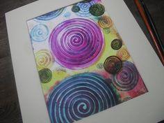 Abstract artspiral paintingspiritual by heARTofNatureStudio