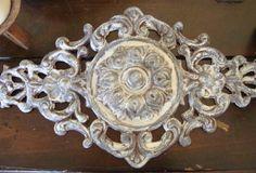 Beautiful Ornate Iron Rust White Gray by Lightitupagain on Etsy
