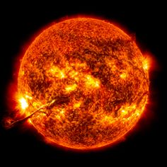 Huge string-like filaments of plasma leaped from the surface of the sun recently, and NASA satellites caught the scene on film.