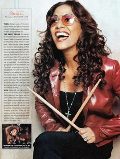 Sheila Escovedo (born December known by her stage name Sheila E., is an American drummer and percussionist, perhaps best known for her work with Prince, George Duke and Ringo Starr. Sheila E, I Love Music, Music Is Life, Soul Music, Gi Joe, Beautiful One, Beautiful People, George Duke, George Nelson